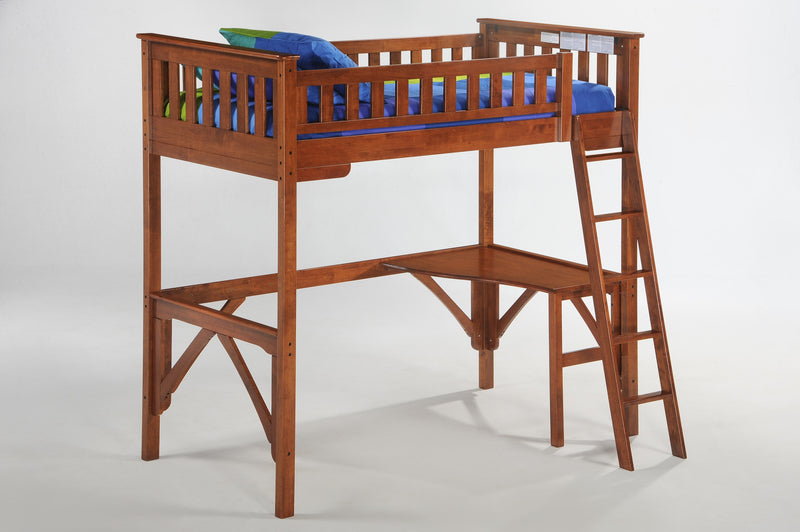 Twin Loft Bed in Cherry