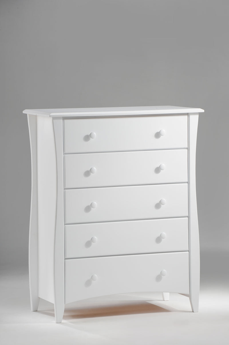 5 Drawer Chest in White