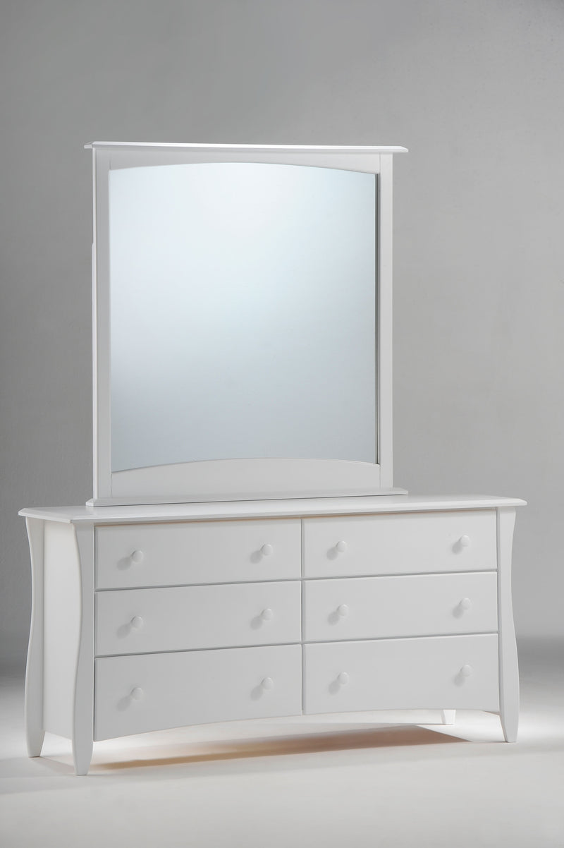 Dresser and Mirror in White