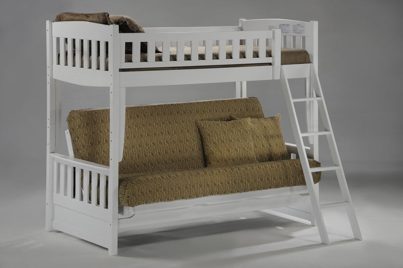 Futon Bunk Bed in White