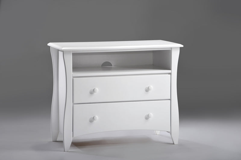 Media Chest in White