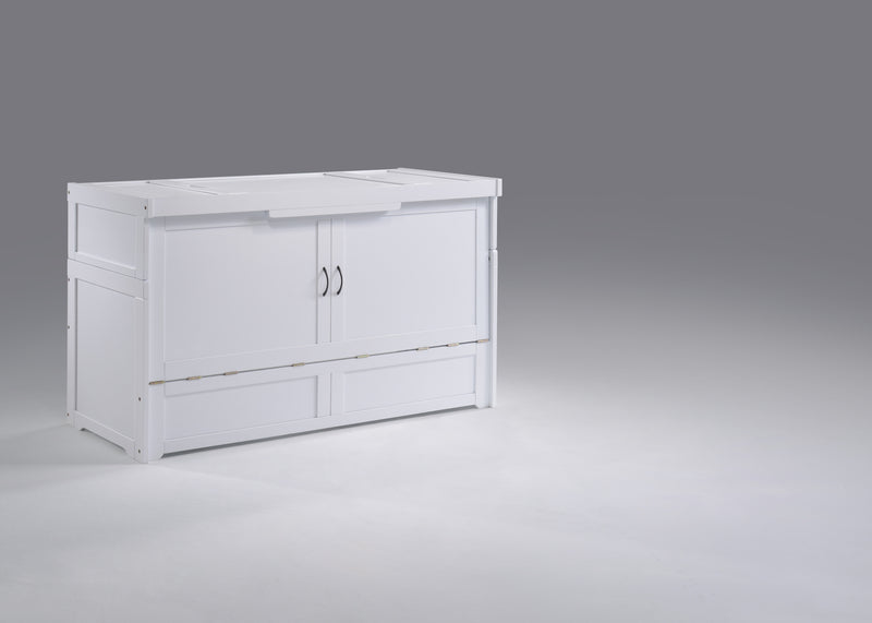 Murphy Bed Chest in White
