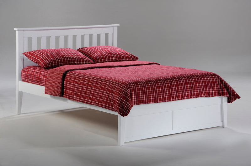 Twin Full Queen King Platform Bed in White