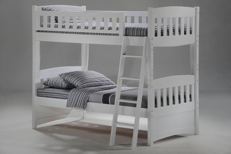 Twin over Twin Bunk Bed in White