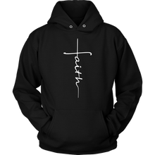 Load image into Gallery viewer, Faith Cross Shirts, Tank and Hoodies - Adoration Apparel | Christian Shirts, Hats, for Women, Men and Toddlers