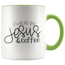 Load image into Gallery viewer, Fueled Jesus and Coffee - Mug - Adoration Apparel | Christian Shirts, Hats, for Women, Men and Toddlers
