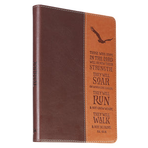 LuxLeather Soar On Wings Of Eagles Journal - Adoration Apparel | Christian Shirts, Hats, for Women, Men and Toddlers
