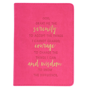 LuxLeather Handy-sized Serenity Prayer Journal - Adoration Apparel | Christian Shirts, Hats, for Women, Men and Toddlers