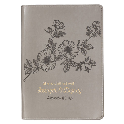 Luxleather Strength & Dignity Journal- Proverbs 31:25 - Adoration Apparel | Christian Shirts, Hats, for Women, Men and Toddlers