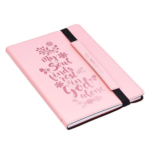 LuxLeather My Soul Finds Rest In God Alone Bullet Journal - Adoration Apparel | Christian Shirts, Hats, for Women, Men and Toddlers