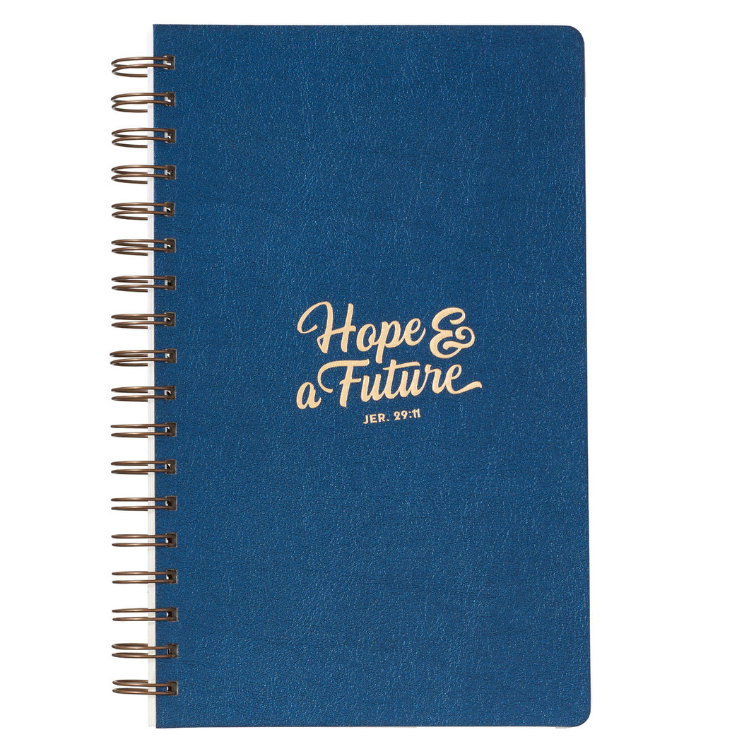 LuxLeather Hope and a Future Large Wirebound Journal - Adoration Apparel | Christian Shirts, Hats, for Women, Men and Toddlers