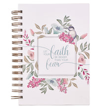 Load image into Gallery viewer, Let Your Faith Be Bigger Hardcover Wire Bound Journal - Adoration Apparel | Christian Shirts, Hats, for Women, Men and Toddlers