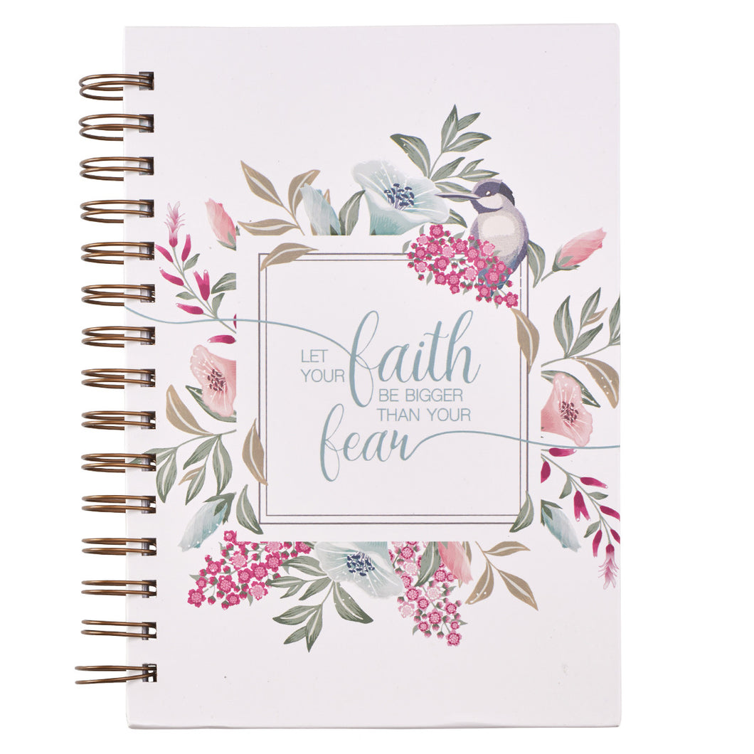 Let Your Faith Be Bigger Hardcover Wire Bound Journal - Adoration Apparel | Christian Shirts, Hats, for Women, Men and Toddlers