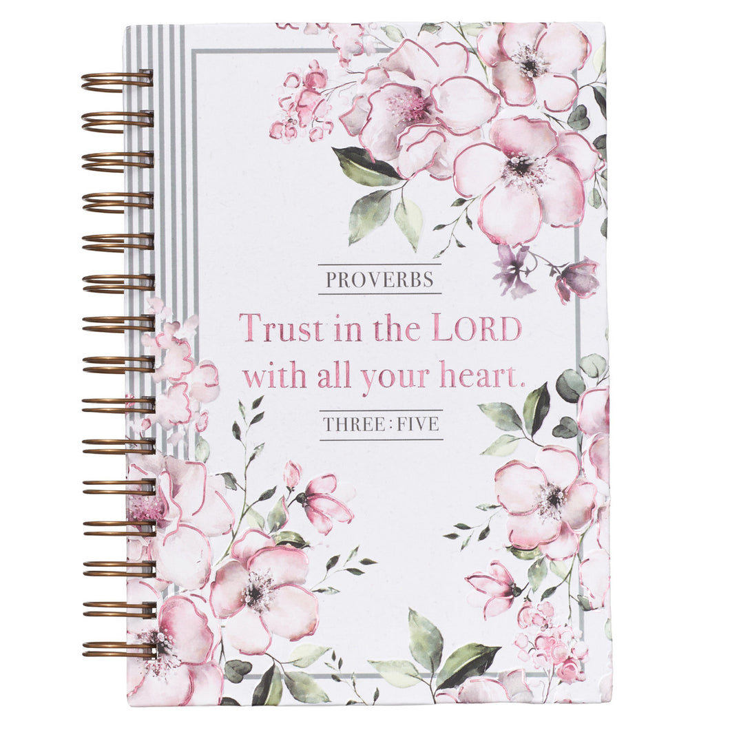 Trust in the Lord Wirebound Journal - Adoration Apparel | Christian Shirts, Hats, for Women, Men and Toddlers