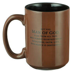 Man of God Coffee Mug- 1 Timothy 6:11 - Adoration Apparel | Christian Shirts, Hats, for Women, Men and Toddlers
