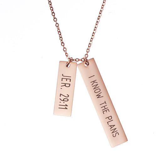 Jeremiah 29:11 Double Bar Necklace - Adoration Apparel | Christian Shirts, Hats, for Women, Men and Toddlers