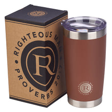 Load image into Gallery viewer, Stainless Steel Righteous Man Travel Mug - Adoration Apparel | Christian Shirts, Hats, for Women, Men and Toddlers