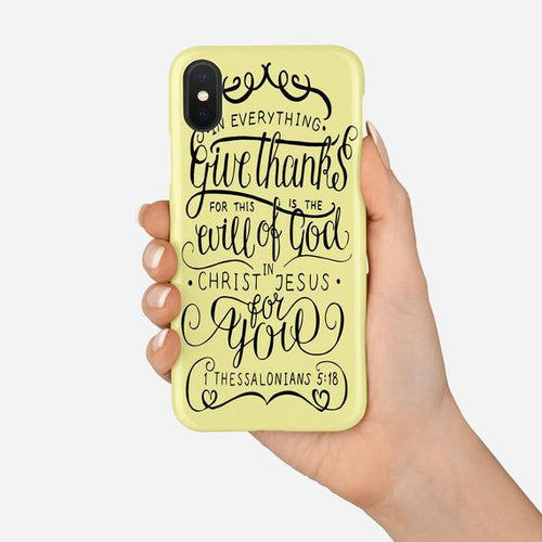 Scripture Cell Phone Case-   1 Thessalonians 5:8 - Adoration Apparel | Christian Shirts, Hats, for Women, Men and Toddlers