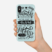 Load image into Gallery viewer, Scripture Cell Phone Case- James 4:10 - Adoration Apparel | Christian Shirts, Hats, for Women, Men and Toddlers