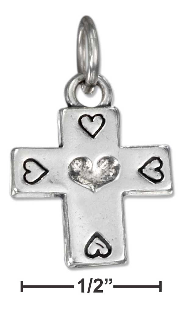 Sterling Silver Cross Charm - Adoration Apparel | Christian Shirts, Hats, for Women, Men and Toddlers