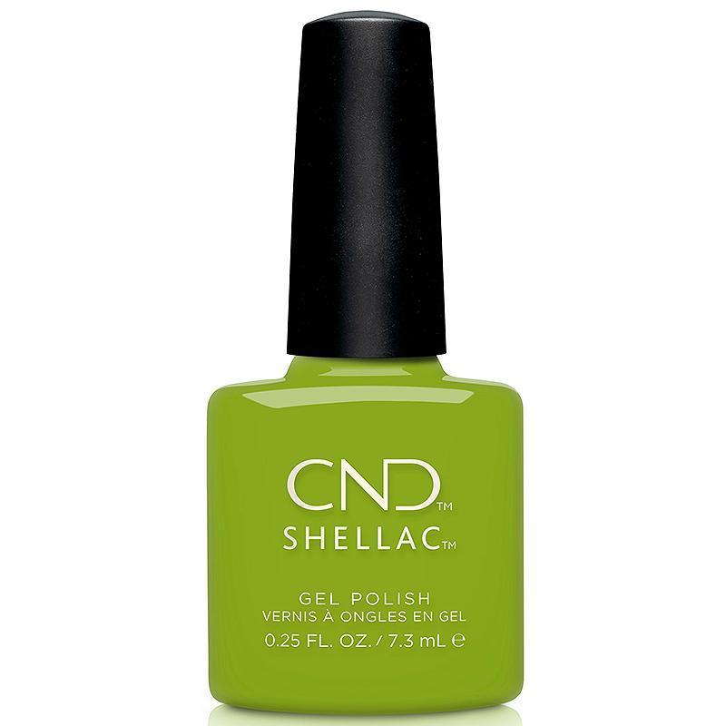 Gel Lacquer CND Shellac, Crisp Green, 0.25 oz
