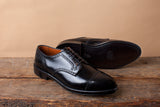 Alden Black Shell Cordovan Cap Toe Blucher with Medallion