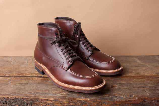 Alden Indy Boot in Brown Pull-Up Leather