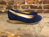 GABOR WEDGE IN NAVY SUEDE