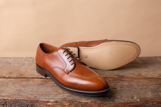 Alden Norwegian Split Toe in Tan Calfskin