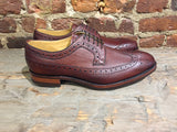 Barker Calvay Country Collection Wing in Cherry Grain Calf
