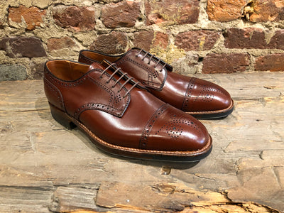 Alden De Rosa Cap-Toe in Madison Brown Calf with Commando Sole
