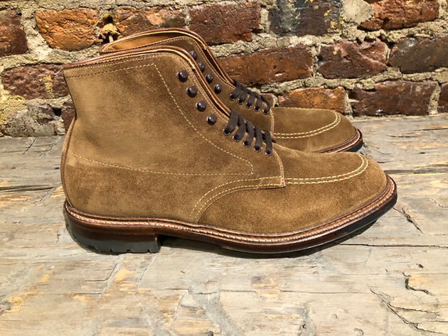 Alden Indy Boot with Commando Sole in Snuff Suede