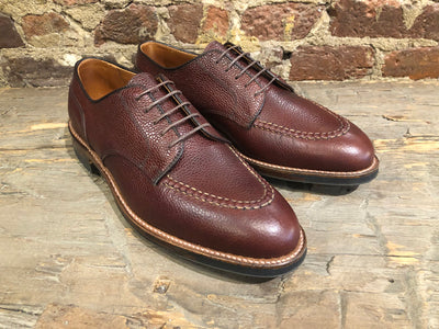 Alden U Tip in Matte Finish Brown Scotch Grain with Commando Sole