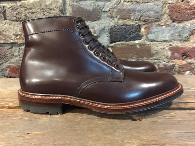 Alden Brown Plain Toe Boot with Commando Sole