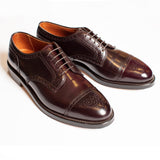 Alden #8 Shell Cordovan Cap Toe Blucher with Medallion