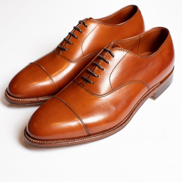 Alden Plain Cap-Toe Oxford in Burnished Tan