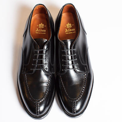Alden Norwegian Split Toe in Black Calfskin