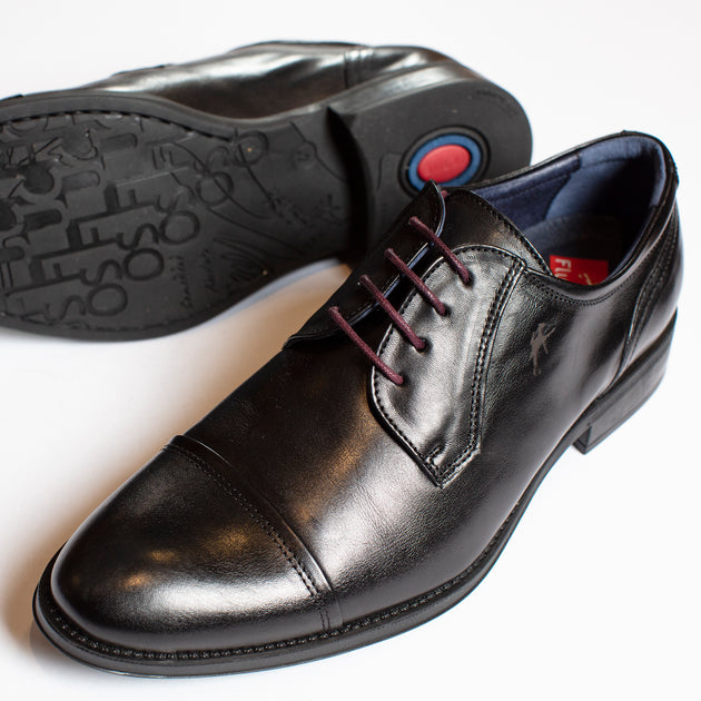 Fluchos Cap Toe Blucher in Black