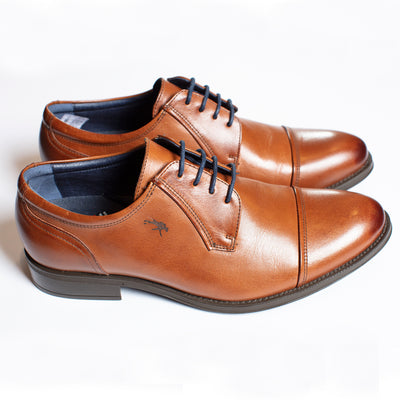 Fluchos Cap Toe Blucher in Tan