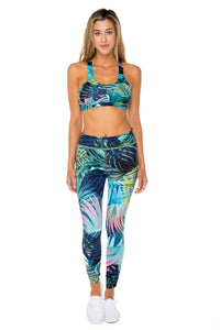 MOJITO - Crossback Sports Bra Top & Skinny Leggings • Multicolor