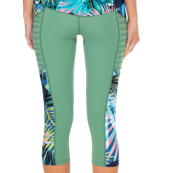 MOJITO - Pintucked Side Capri Legging