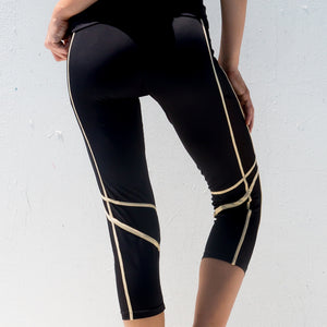 WARRIOR SPIRIT - Mesh Sides Capri Legging