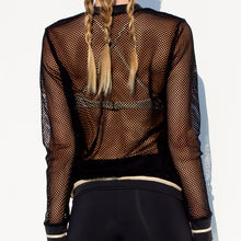 WARRIOR SPIRIT - Fishnet Bomber Jacket
