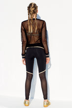WARRIOR SPIRIT - Fishnet Bomber Jacket & Gold Trimmed Legging • Black Gold