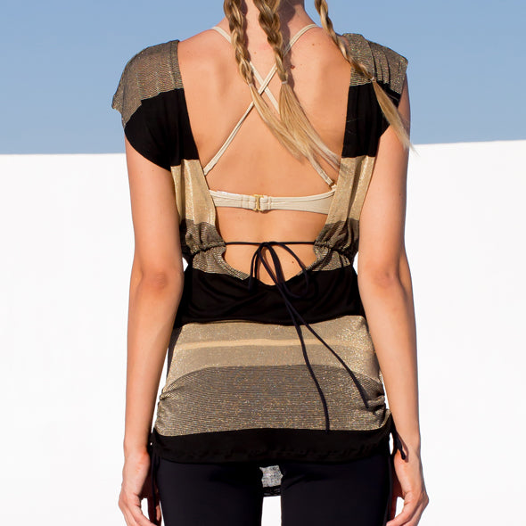 WARRIOR SPIRIT - Relaxed Fit Drawstring Top
