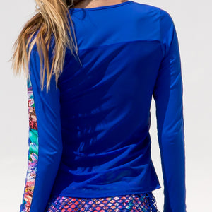 GORGEOUS CHAOS - Fitted Long Sleeve Trimmed Top