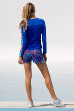 GORGEOUS CHAOS - Fitted Long Sleeve Trimmed Top & Fishnet Overlay Shorts • Multicolor