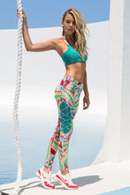WILD HEART - Crossback Sports Bra & Laced Panel Skinny Legging • Multicolor