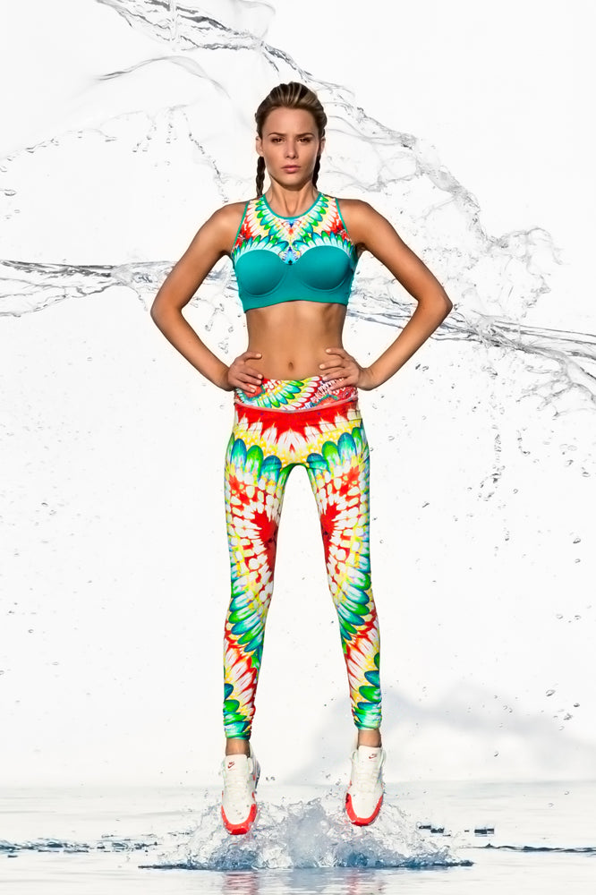 WILD HEART - Structured Sports Bra & Skinny Legging • Multicolor