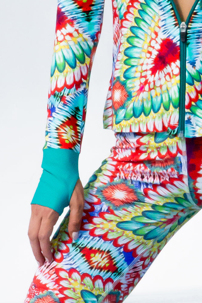 WILD HEART - Fitted Zip Jacket & Mixed Waistband Capri • Multicolor